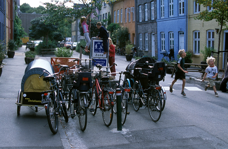 Children playing in street, Copenhagen