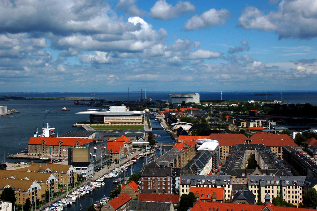 View of Nyhavn from the church tower