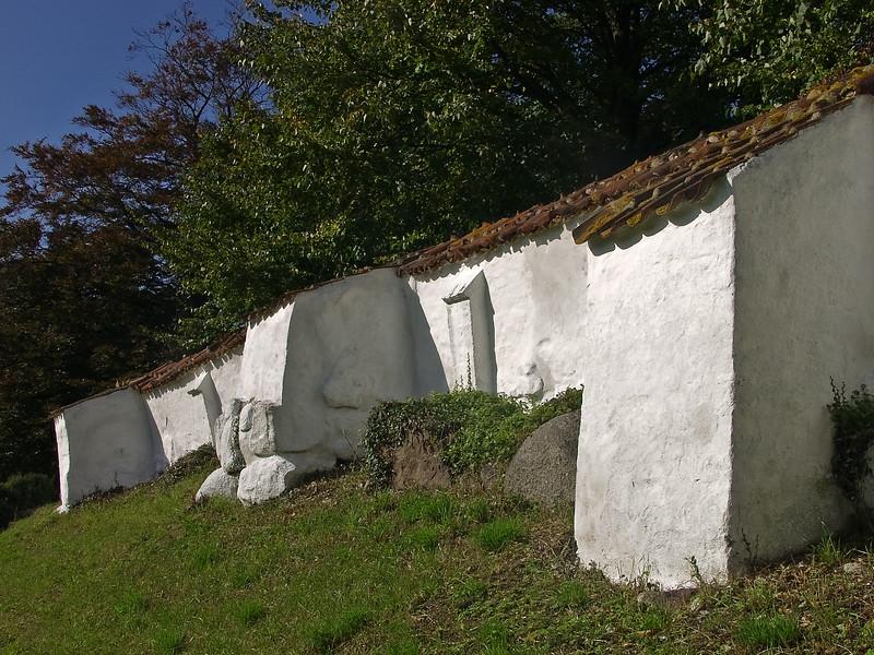 Denmark Vordingborg white stone wall