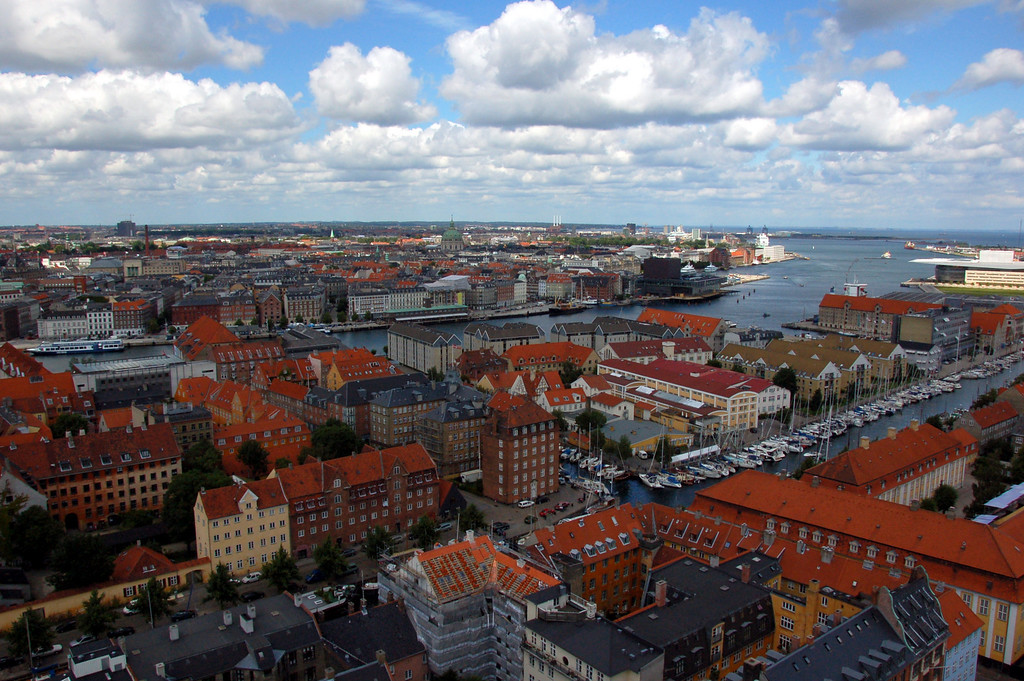 View of Copenhagen from the top of the tower