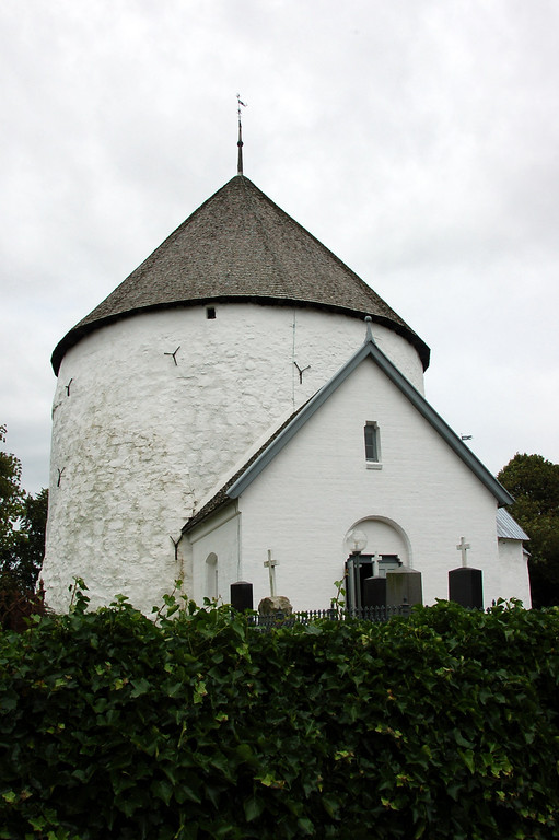 The church (Nylars Rundkirke) in Bornholm where the wedding took place