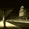 Denver train station.  An attempt at some handheld night photography