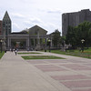 Plaza leading over to the art museum and public library