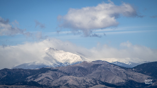 Mountains behind Boulder CO.  Shot on November 1, 2018 from Broomfield, CO.  ©John Schiller Photography