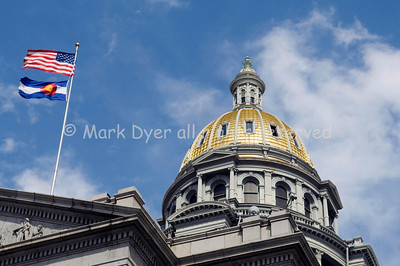 Denver Capitol and flags