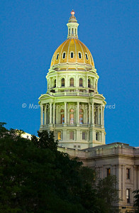 Denver Capitol at Dusk
