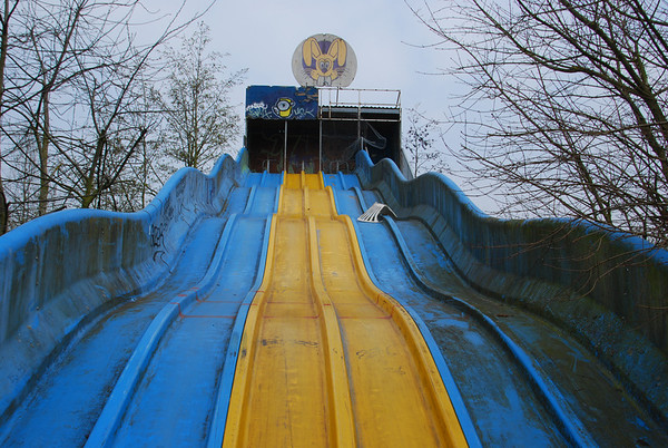 Not so much a slide as a  walk down!