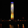 "At night the Paragon Prairie Tower is carefully illuminated so there are no ""hot spots"" but evenly lit.  The top is internally illuminated."