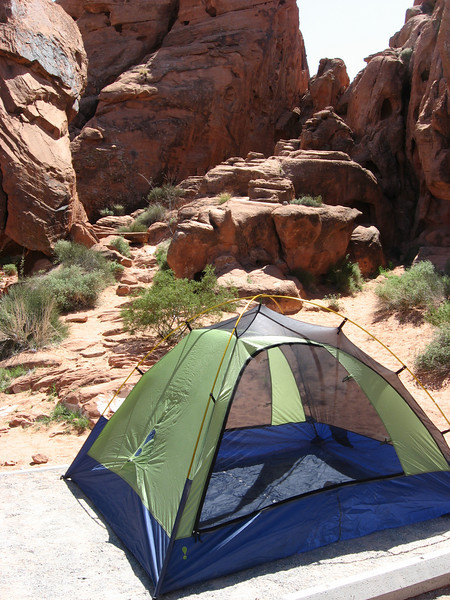 our tent at Valley of Fire