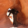 Deric in a natural arch at Valley of Fire.