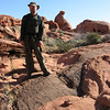 Deric on a Valley of Fire hiking trail. Gotta love those hats.