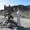 Teakettle Junction, a lone structure of oddness on the way to The Racetrack, Death Valley, CA