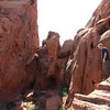 Deric on the red rocks behind our campsite at Valley of Fire State Park