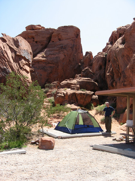 Valley of Fire - our campsite