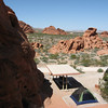 View from rocks above our campsite at Valley of Fire