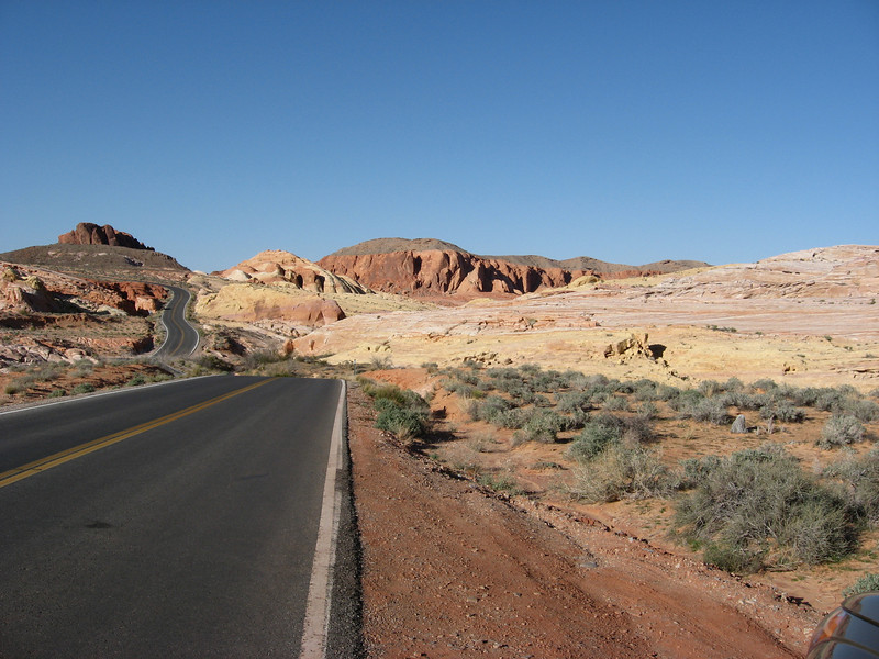 colorful scenic drive; we got out to explore the pink and yellow rocks and canyons that caught our attention off side of the road. very beautiful
