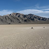 "A typical view of the ""moving rocks"" at Death Valley, the Racetrack."