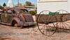 When Technologies were Combined - Carrige pulled by Auto - New Mexico - Photo by Pat Bonish