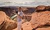 Cindy shooting her rendition of Horseshoe Bend - Arizona