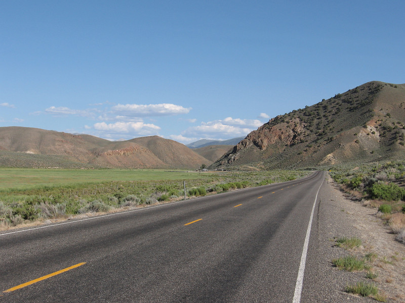 While most of Nevada 205 was flat, it entered a gentle uphill canyon towards the end.