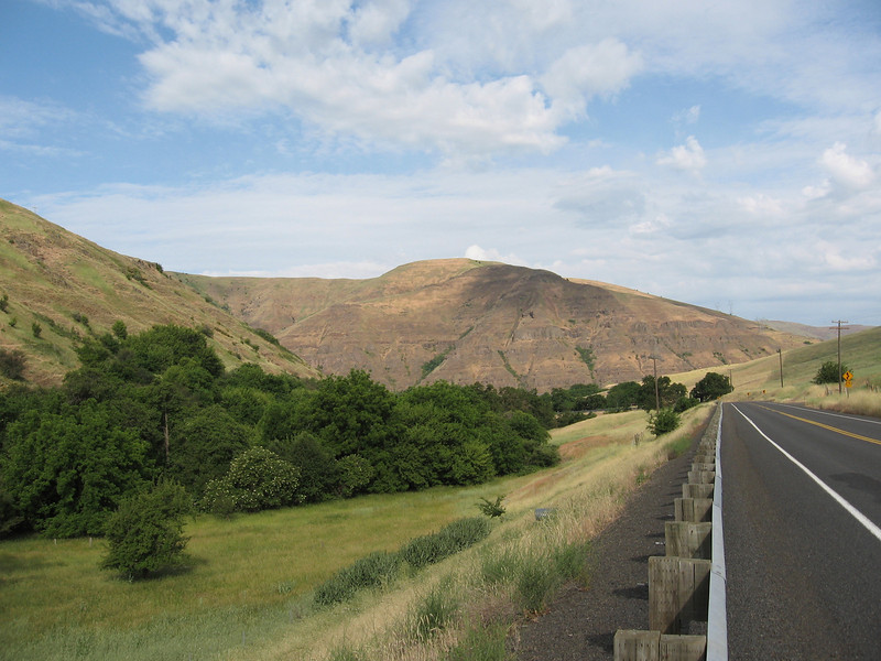 As Wawawai Road got closer to the Snake River, the countryside got dryer. There was almost no traffic.