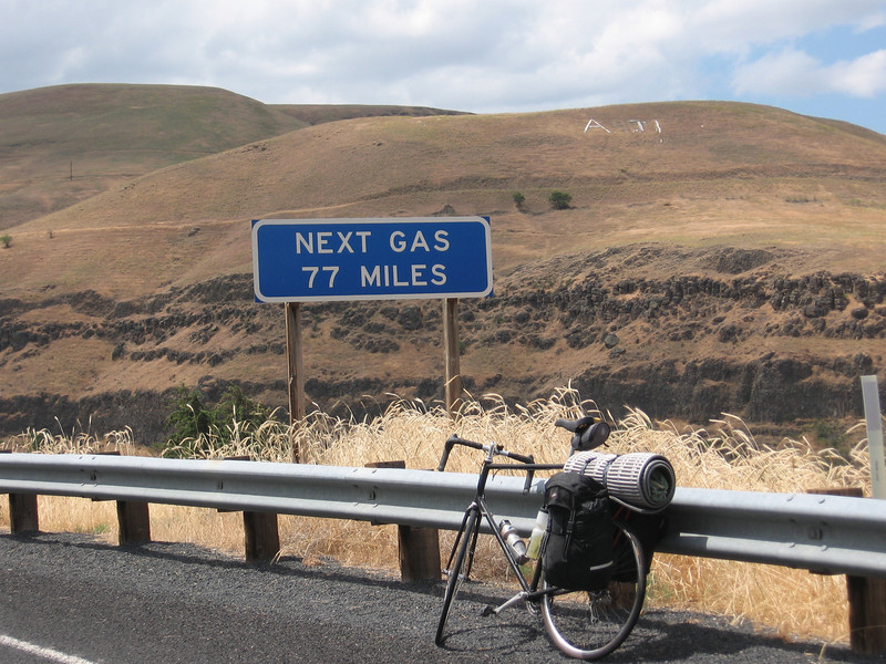 From Clarkston, there was a bike path along the river to Asotin, Washington, then the road started uphill.