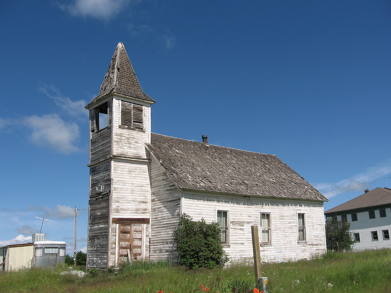 The old church in Flora.