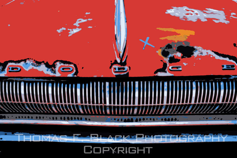 This and frame following, 1960s Dodge Dart. Special graphic effect applied. [UFP082312]