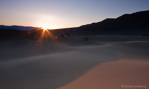sunrise over sand dunes