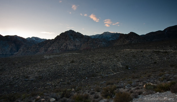 late day in red rock canyon
