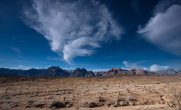 cloud painting, mountains, red rock canyon