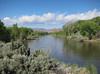 Crossing the Carson River near Fort Churchill.