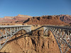 The old and new Navajo Bridge; the old one (on the right) is a pedestrian walkway now.