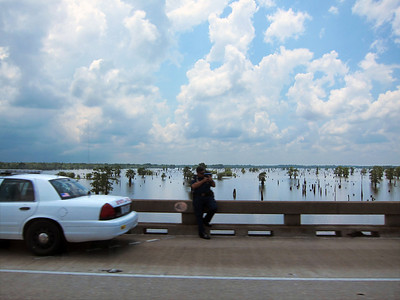 2012-06-08 Atchafalaya Swamp Freeway in Louisiana: An 18 mile stretch of I-10 over the Atchafalaya River
