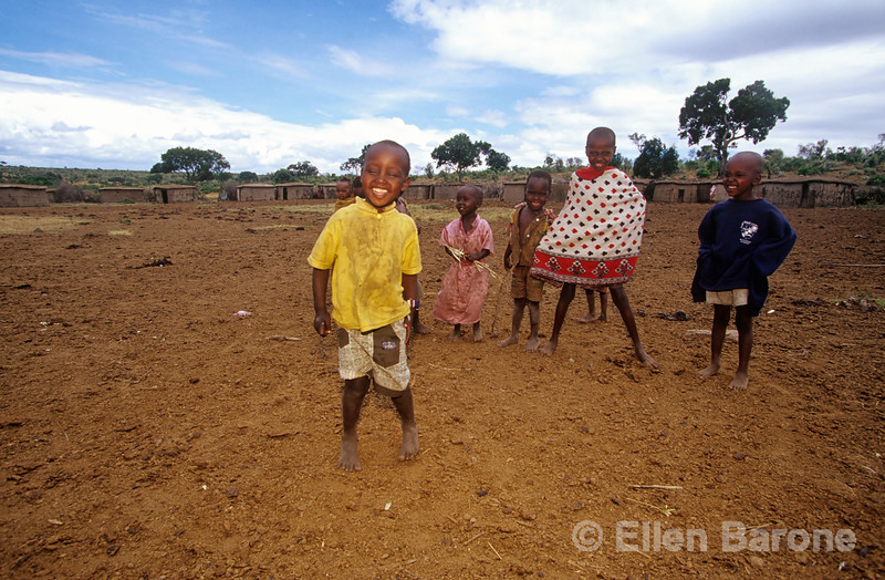 A group of Masai children, Kenya, East Africa.