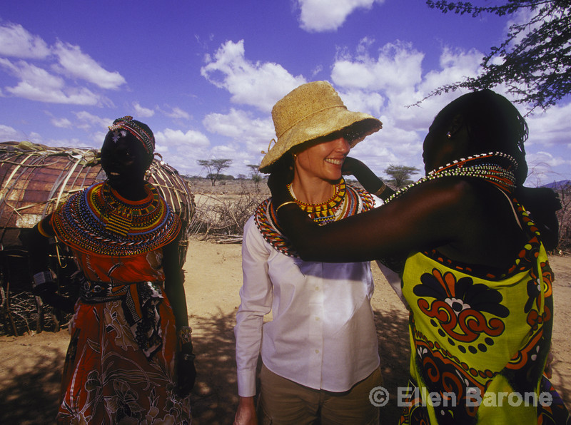 Micato Safari guest with Samburu women