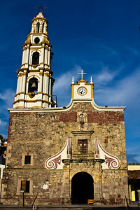 Catholic church, Ajijic, Jalisco, Mexico. Lago de Chapala (Lake Chapala)