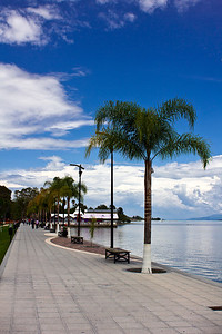 The malecon, Lago de Chapala, Ajijic, Jalisco, Mexico.
