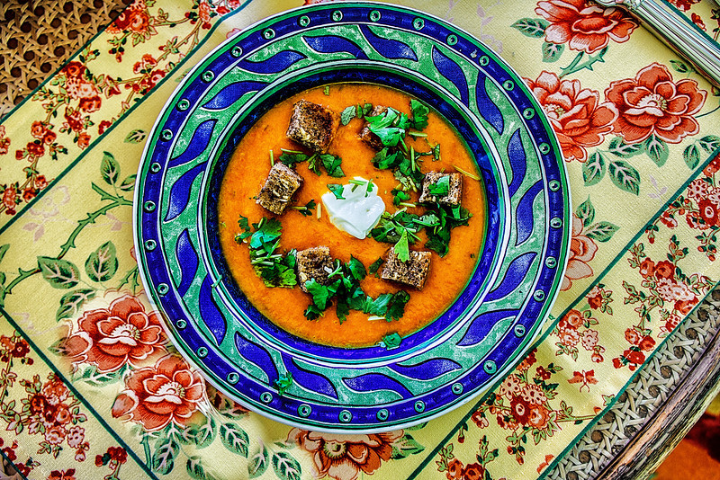Red pepper soup, Ajijic, Jalisco, Mexico.