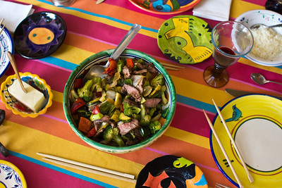 a colorful meal, Ajijic, Jalisco, Mexico.