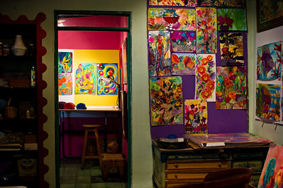 Art studio interior, El Gallo Gallery, Ajijic, Jalisco, Mexico.