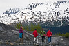 Hikers, Exit Glacier, Seward, Alaska.