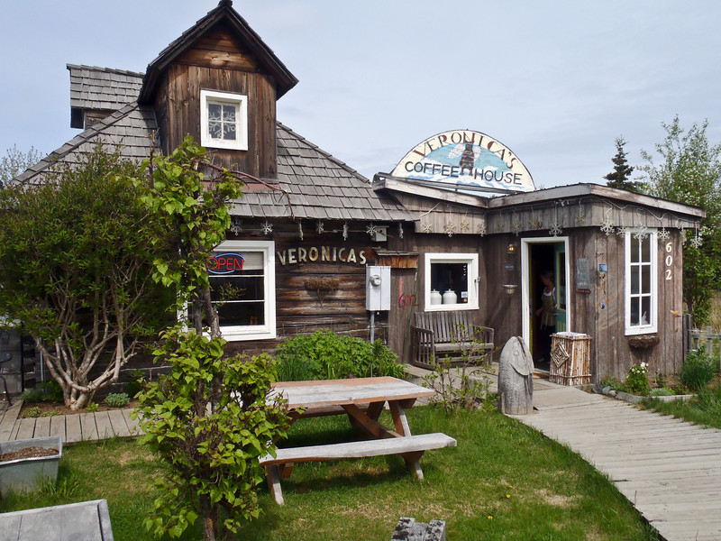In Kenai, drop by Veronica's Old Town Cafe as much for the delicious homemade soups, sandwiches, quiches and desserts as its cozy, cheerful ambiance. Kenai, Alaska. 8