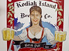 """The beer that put Kodiak Island Brewing Company on the map in the lower 48 - the Sarah Pale Ale, with a buxom depiction of the infamous former governor and the cheeky moniker """"You Betcha It's Good."""""""