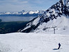 Spring skiing, Alyeska Resort, Girdwood, Alaska. Anchorage environs.