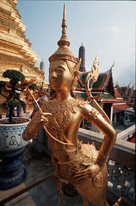Architectural detail, the Grand Palace, Bangkok, Thailand, Southeast Asia.