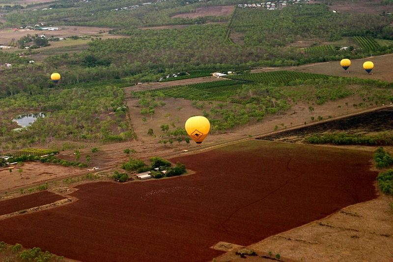 Ballooning, Cairns, Queensland, Australia