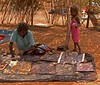 Aboriginal artist and child, Rod Steinert's Dreamtime Cultural Tour, Alice Springs, Nothern Territory, Australia