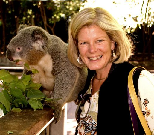 Collette Vacationer with Koala, Koala Park, Sydney environs, Australia, Model Released.