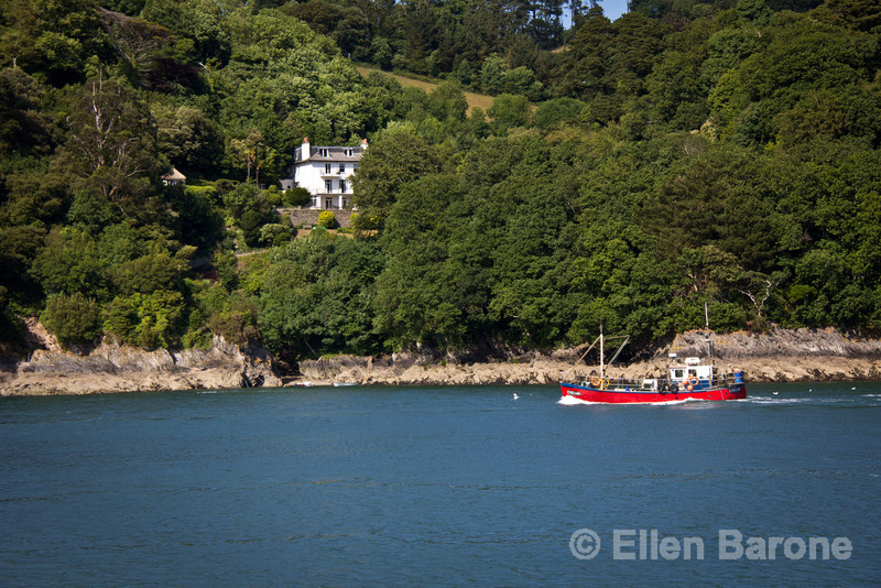 Fishing boat, River Dart, south Devon, England, U.K.